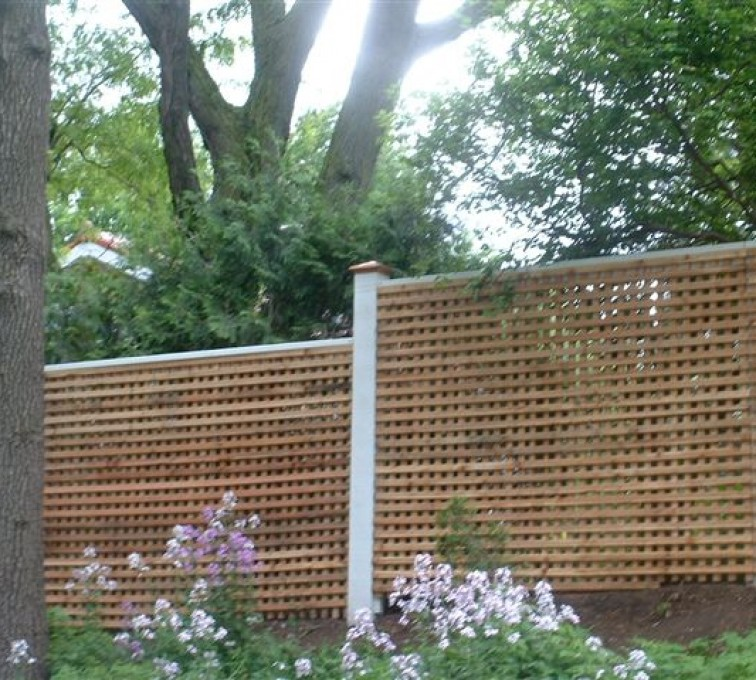 AmeriFence Corporation Kansas City- Wood Fencing, 1027 Lattice fence
