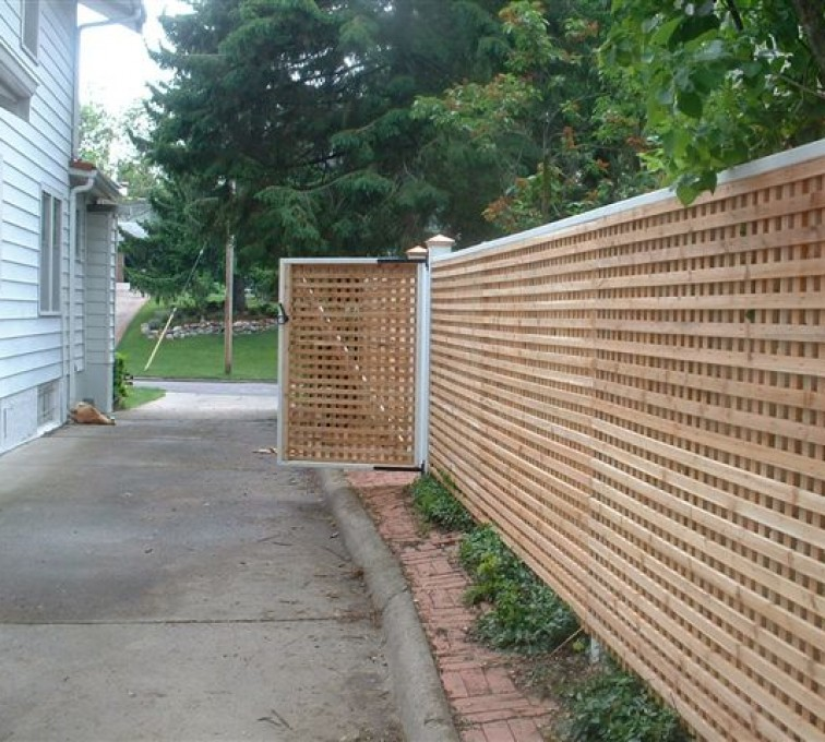 AmeriFence Corporation Kansas City - Wood Fencing, 1029 Lattice Fence