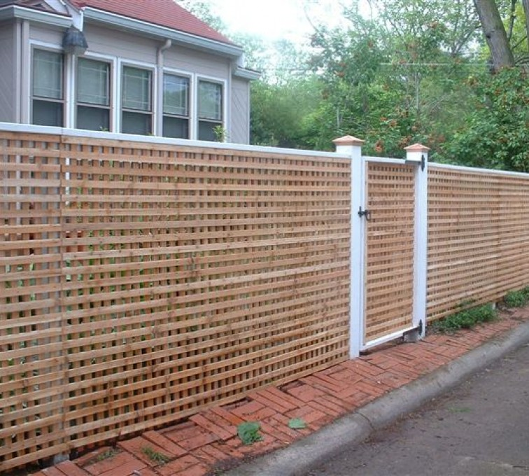 AmeriFence Corporation Kansas City - Wood Fencing, 1030 Lattice Fence