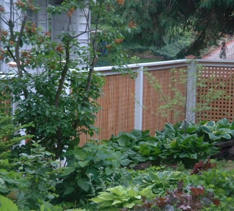 AmeriFence Corporation Kansas City - Wood Fencing, 1031 Lattice Fence