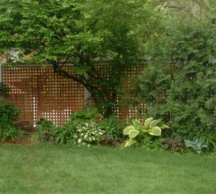 AmeriFence Corporation Kansas City - Wood Fencing, 1032 Lattice Fence