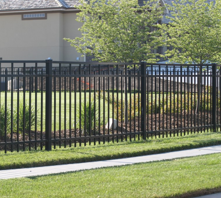 AFC Grand Island - Ornamental Fencing, 1050 4' 3 rail