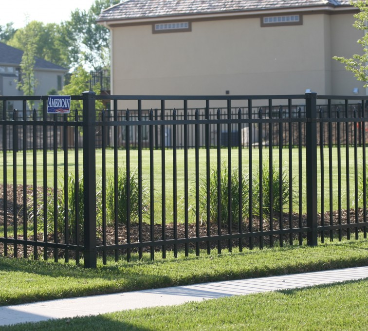 AFC Grand Island - Ornamental Fencing, 1051 4' 3 rail