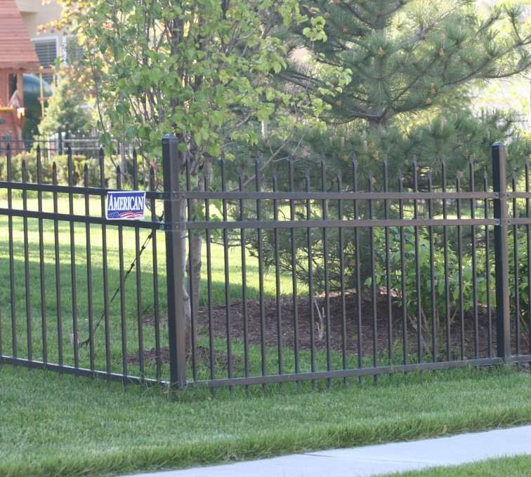 AFC Grand Island - Ornamental Fencing, 1054 4' 3 rail black 3
