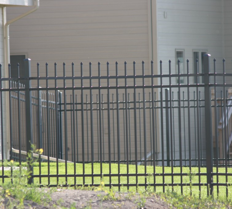 AFC Grand Island - Ornamental Fencing, 1059 6' spear top 4 rail black 3
