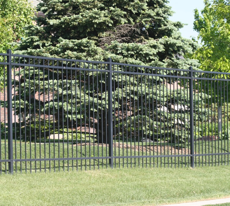 AFC Grand Island - Ornamental Fencing, 1062 6' Flat top 3 rail black