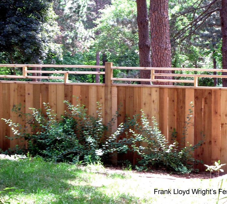 AmeriFence Corporation Kansas City - Wood Fencing, 1074 Frank Lloyd Wright Fence