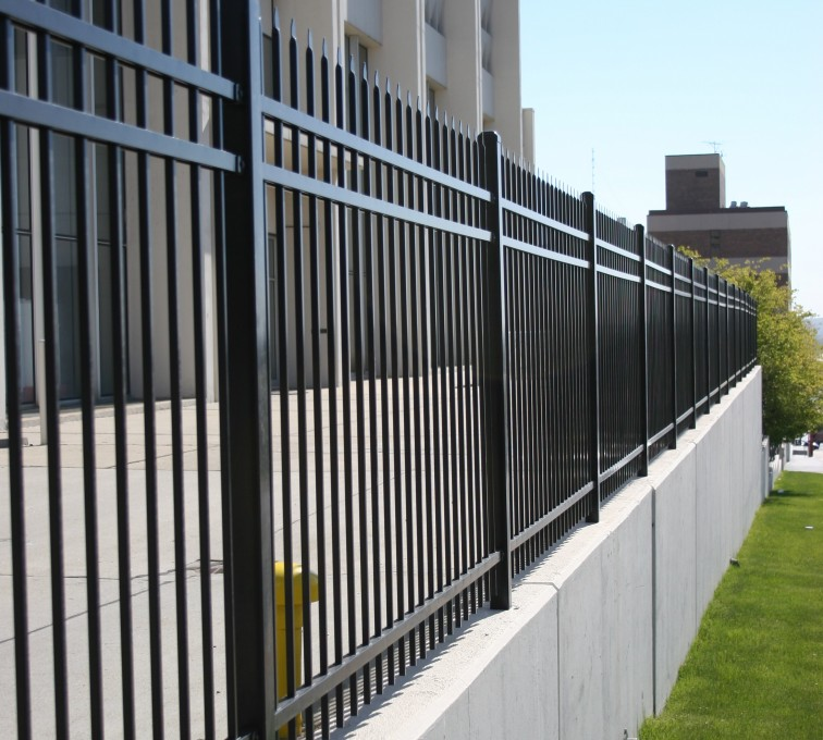 AFC Grand Island - Ornamental Fencing,1075 Black Spear Top Energy Services Fence 2