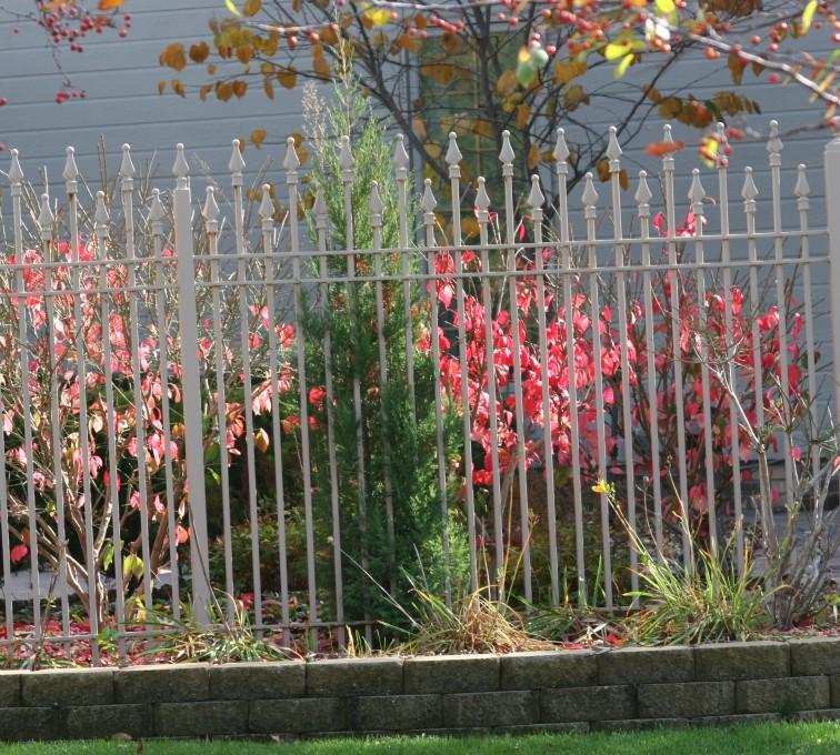 Kansas City Fence Company - Custom Iron Gate Fencing, 1203 Alternating Picket White Ornamental Iron