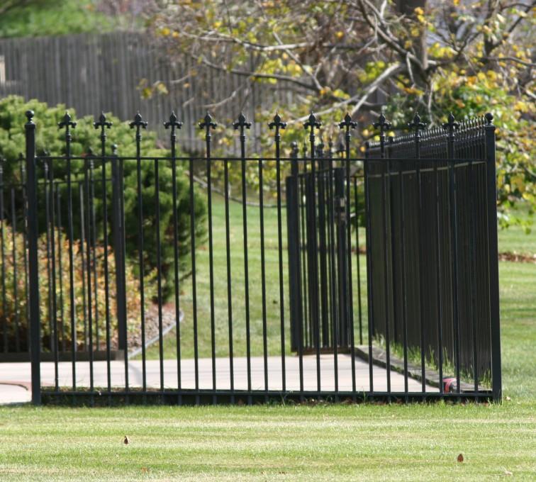 Kansas City Fence Company - Custom Iron Gate Fencing, 1206 Classic Flor de Lis Ornamental Iron