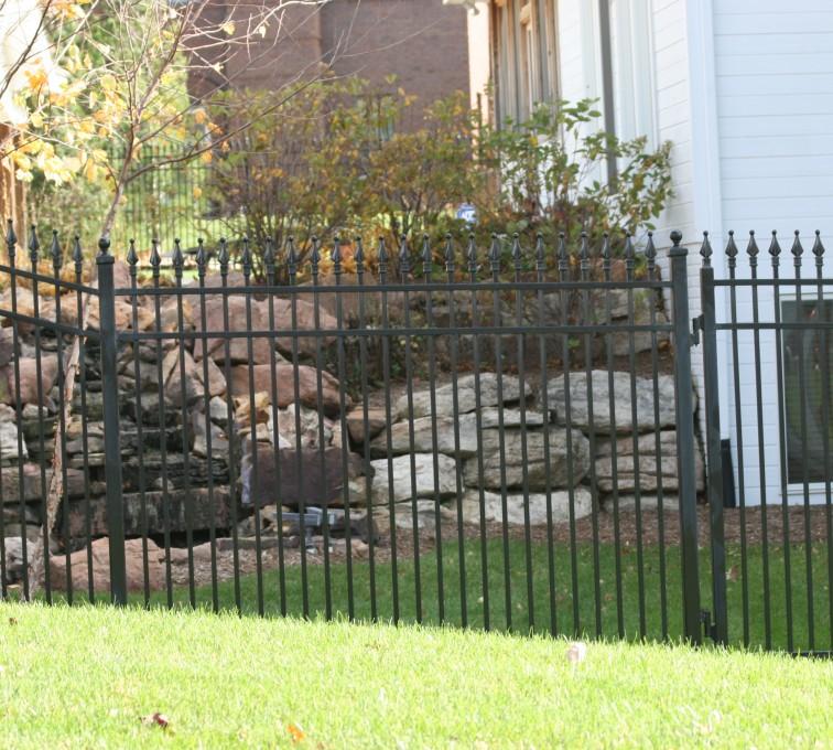 Kansas City Fence Company - Custom Iron Gate Fencing, 1208 Classic Quad Flare Ornamental Iron