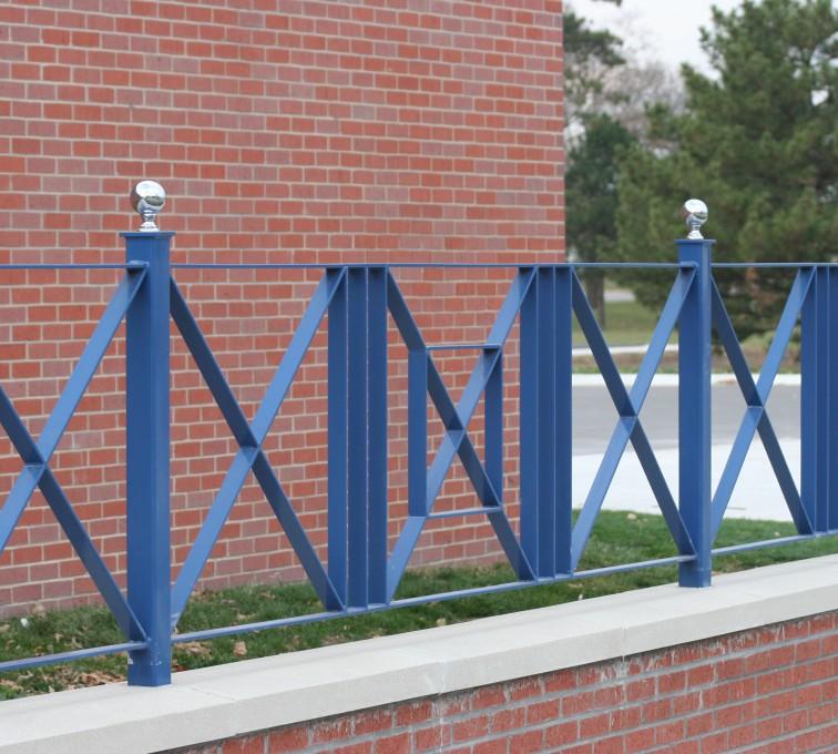 Kansas City Fence Company - Custom Iron Gate Fencing, 1219 Flat Bar crossing pattern