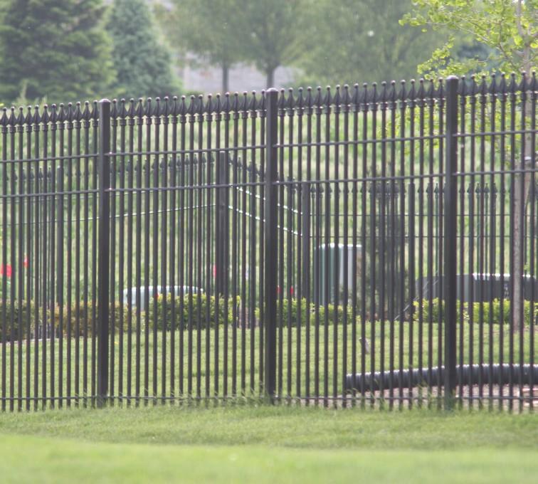 Kansas City Fence Company - Custom Iron Gate Fencing, 1221 Quad flare straight picket