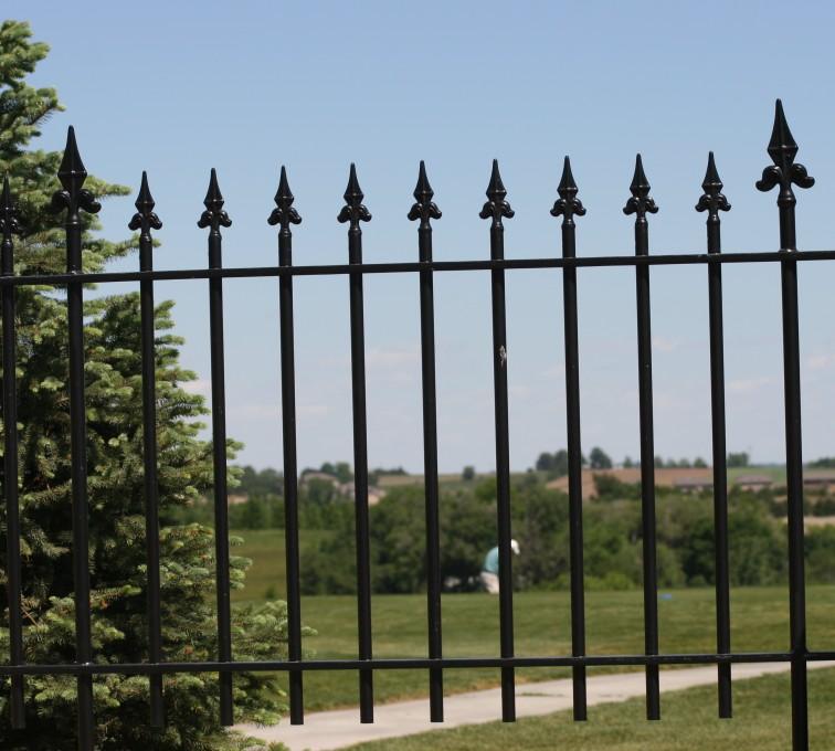 Kansas City Fence Company - Custom Iron Gate Fencing, 1224 Flor de Lis Picket 3'