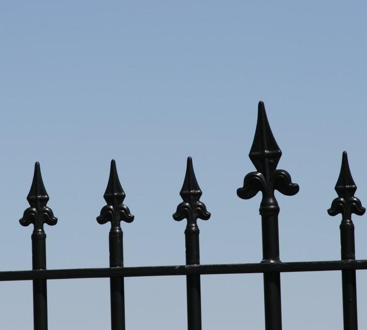 Kansas City Fence Company - Custom Iron Gate Fencing, 1225 Flor de Lis close-up