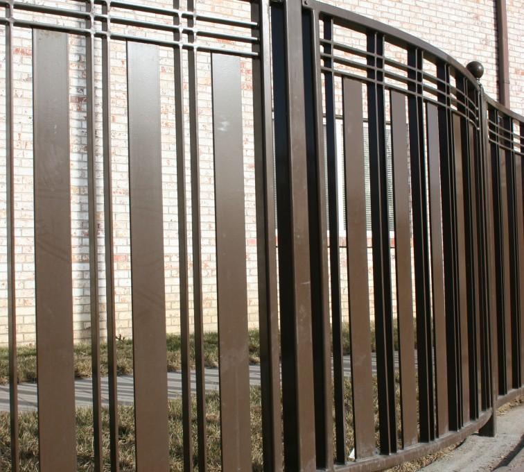Kansas City Fence Company - Custom Iron Gate Fencing, 1247 Checker Board Fence