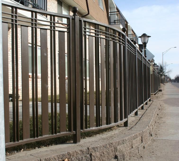 Kansas City Fence Company - Custom Iron Gate Fencing, 1248 Checker Board Fence