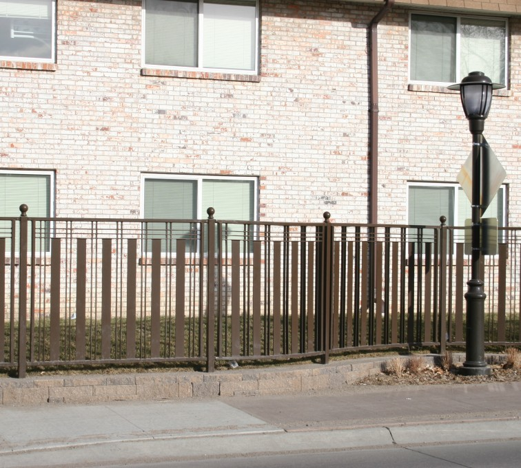 Kansas City Fence Company - Custom Iron Gate Fencing, 1249 Checker Board Fence