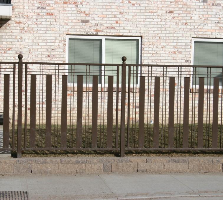 Kansas City Fence Company - Custom Iron Gate Fencing, 1250 Checker Board Fence