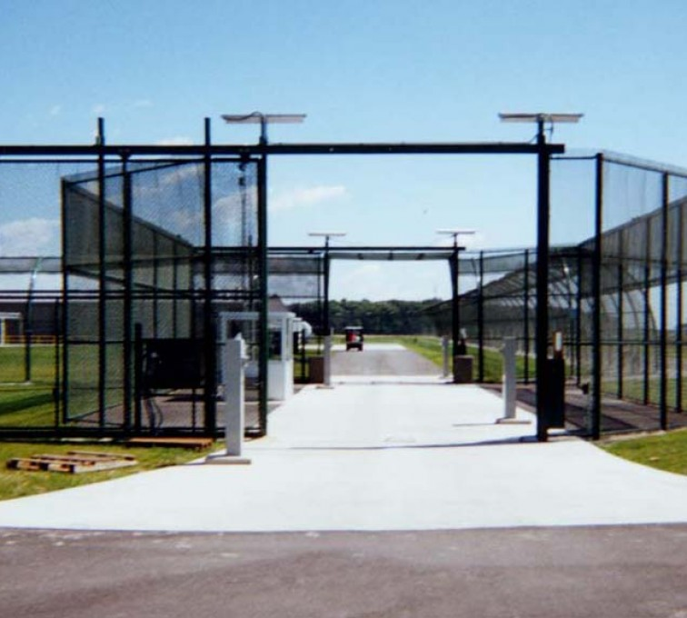 AmeriFence Corporation Kansas City - Custom Gates, Estate Telephone Entry, 2110 TyMetal Plus Gate at Prison Sallyport
