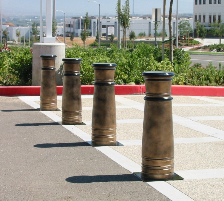Kansas City Fence Company - K-Rated Vehicle Restraint Systems Fencing, 2114 Hydraulic Bollards