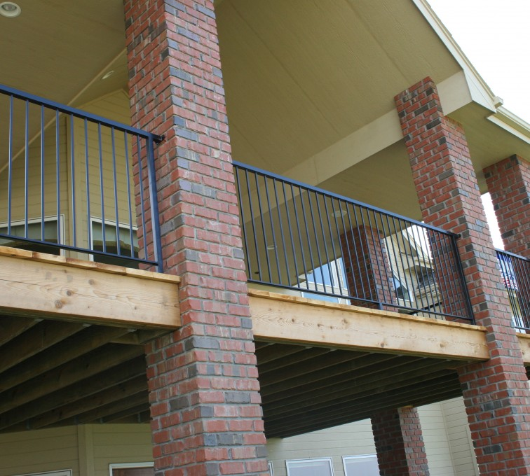 AFC Grand Island - Custom Railing, 2213 Deck Railing