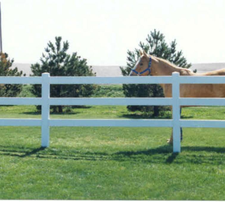 AmeriFence Corporation Kansas City - Vinyl Fencing, 3 Ranch Rail (955)