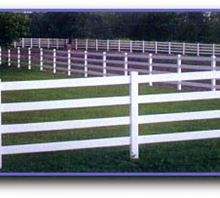AmeriFence Corporation Kansas City - Vinyl Fencing, 4 Ranch Rail (958)