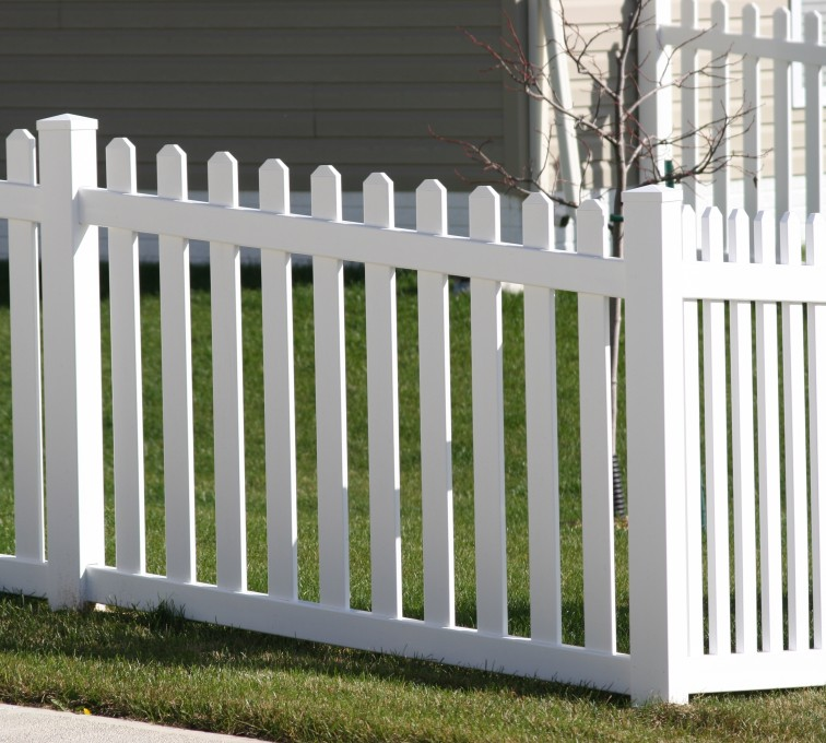 AmeriFence Corporation Kansas City - Vinyl Fencing, 558 Vinyl 4' picket