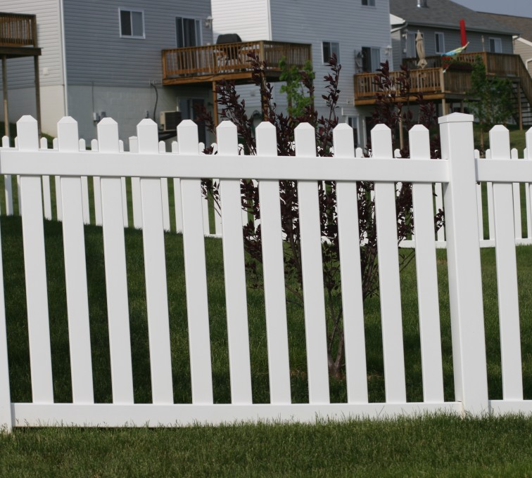 AmeriFence Corporation Kansas City - Vinyl Fencing, 4' Picket 564