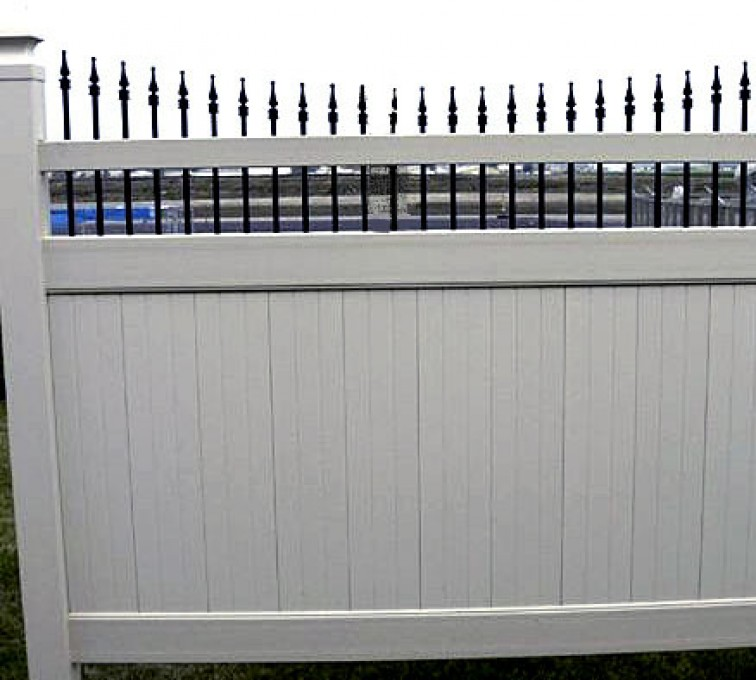 AmeriFence Corporation Kansas City - Vinyl Fencing, 568 Black & Tan Underscallop