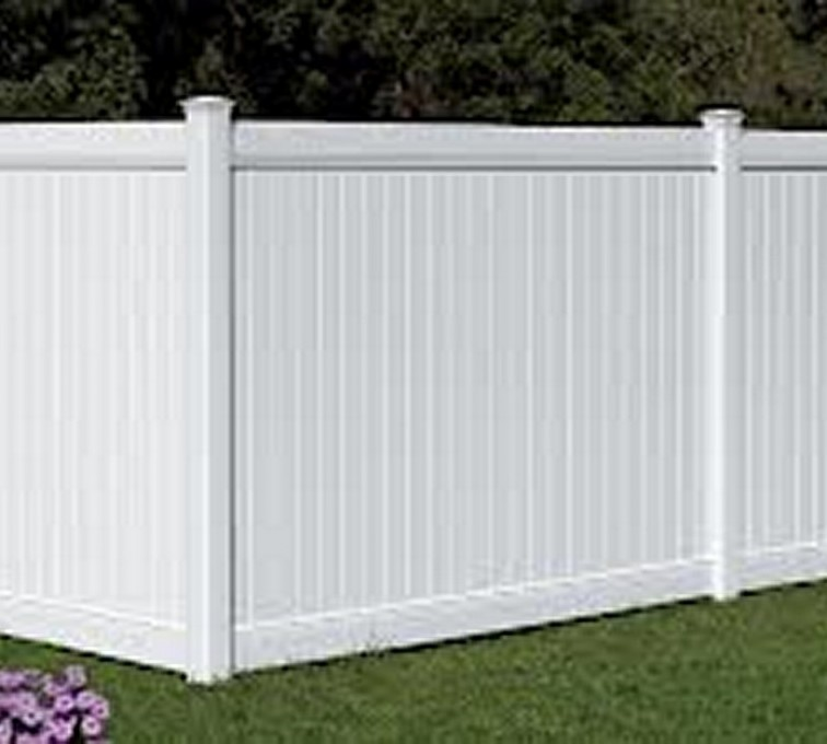 AmeriFence Corporation Kansas City - Vinyl Fencing, 6' White Polid Privacy PVC - AFC - IA