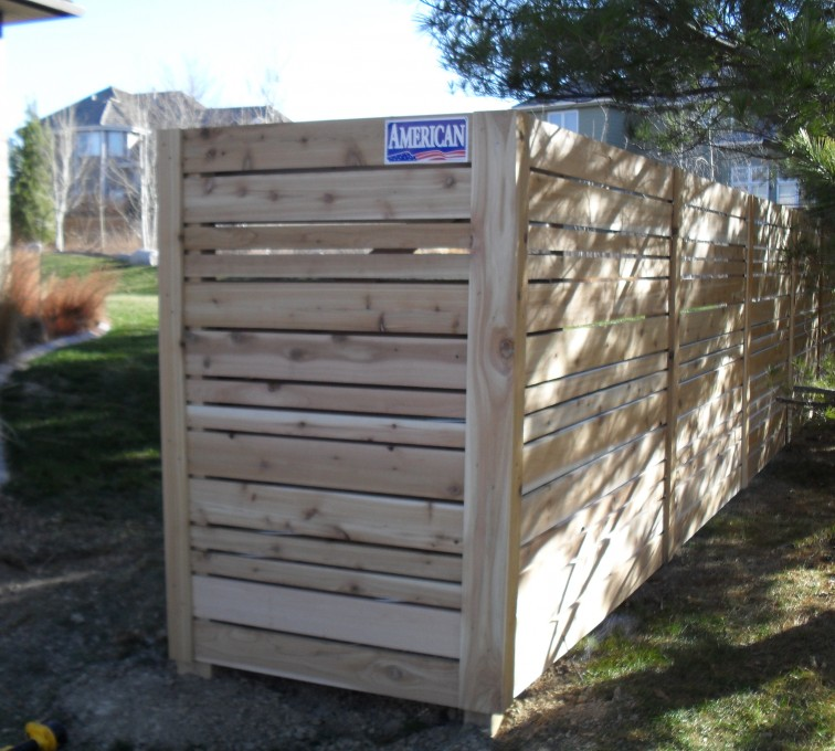 AmeriFence Corporation Kansas City - Wood Fencing, 6' Horizontal Wood White A