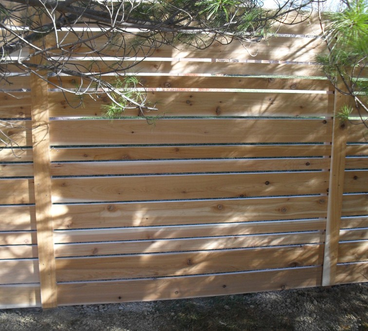AmeriFence Corporation Kansas City - Wood Fencing, 6' Horizontal Wood White B