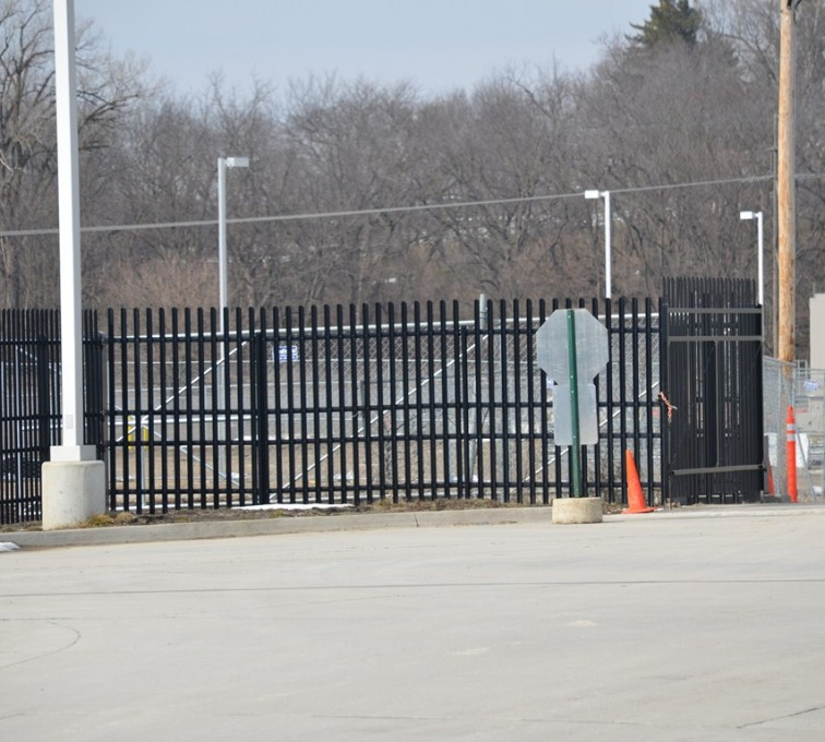 Kansas City Fence Company - K-Rated Vehicle Restraint Systems Fencing, 8' Crash Rated Ornamental Impasse 3 - AFC - IA
