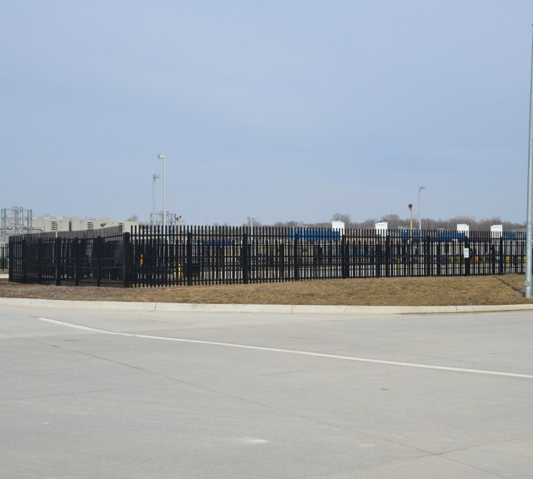 Kansas City Fence Company - K-Rated Vehicle Restraint Systems Fencing, 8' Crash Rated Ornamental Impasse - AFC - IA