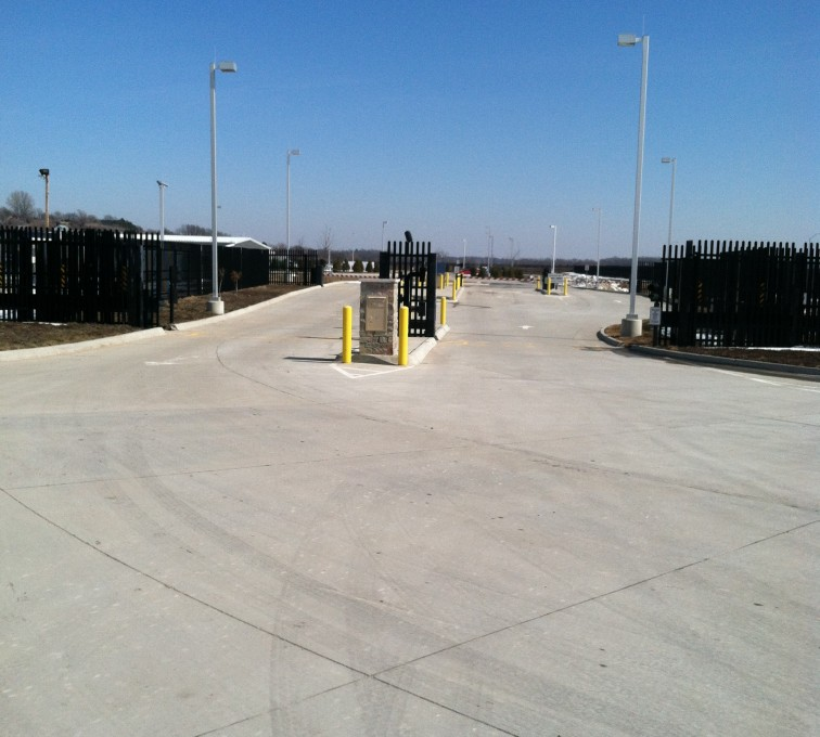Kansas City Fence Company - K-Rated Vehicle Restraint Systems Fencing, 8' Crash Rated Ornamental Impasse 7 - AFC - IA