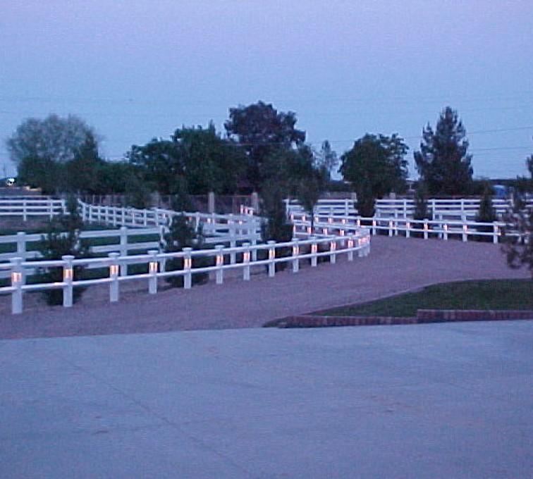AmeriFence Corporation Kansas City - Vinyl Fencing, AZ Mortenson lighted entry
