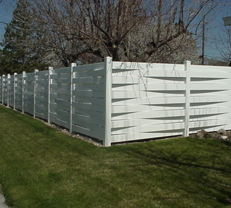 AmeriFence Corporation Kansas City - Vinyl Fencing, Basket Weave 752