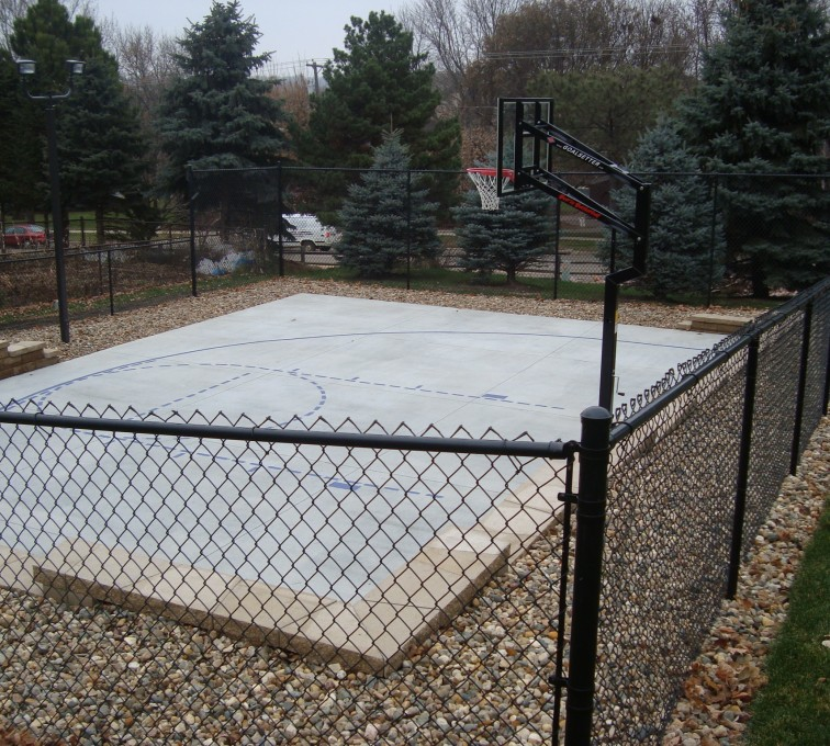 AFC Grand Island - Sports Fencing, Black Vinyl Chain Link Sport Court AFC, SD