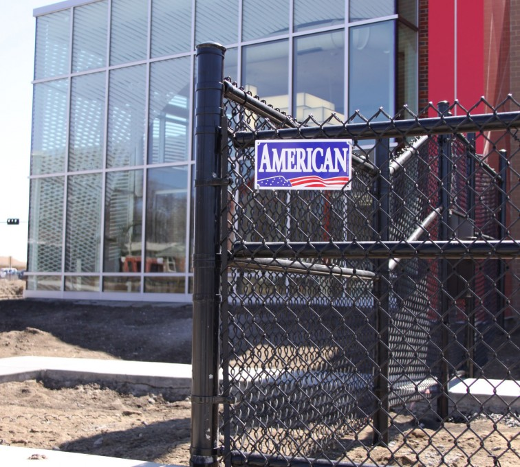AFC Grand Island - Chain Link Fencing, Black vinyl chain link