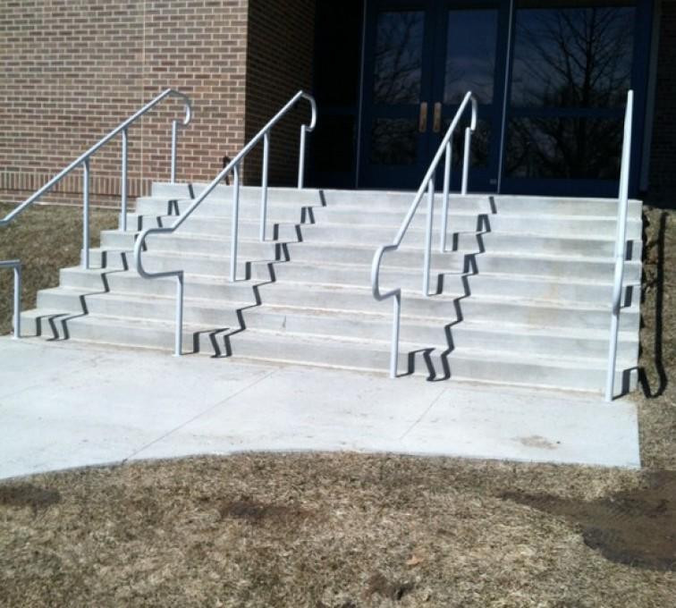 Kansas City Fence Company - Custom Railing, Custom Galvanized Handrail 3 - AFC - IA