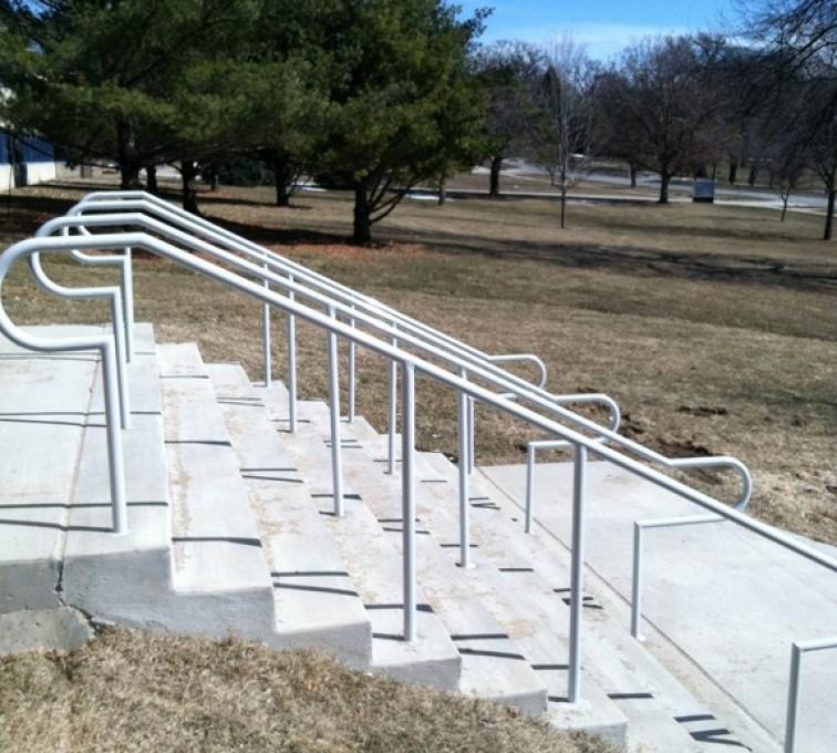 Kansas City Fence Company - Custom Railing, Custom Galvanized Handrail 4 - AFC - IA