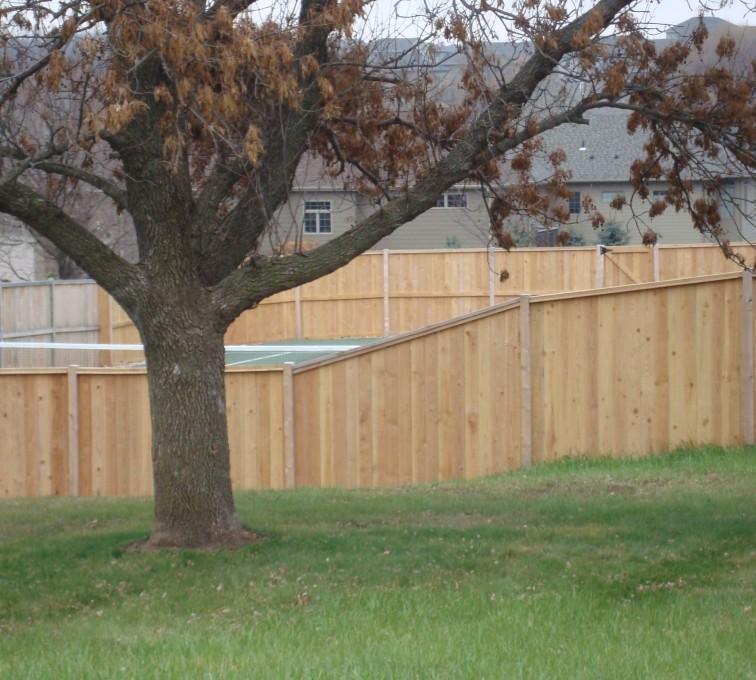 AmeriFence Corporation Kansas City - Wood Fencing, Cedar Privacy Capboard AFC, SD
