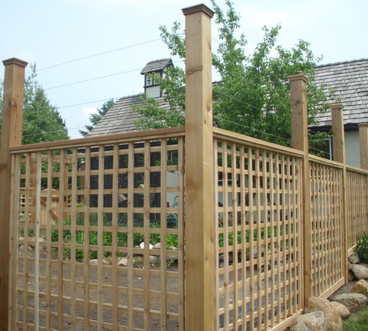 AmeriFence Corporation Kansas City - Wood Fencing, Custom Garden Fence 2 AFC, SD