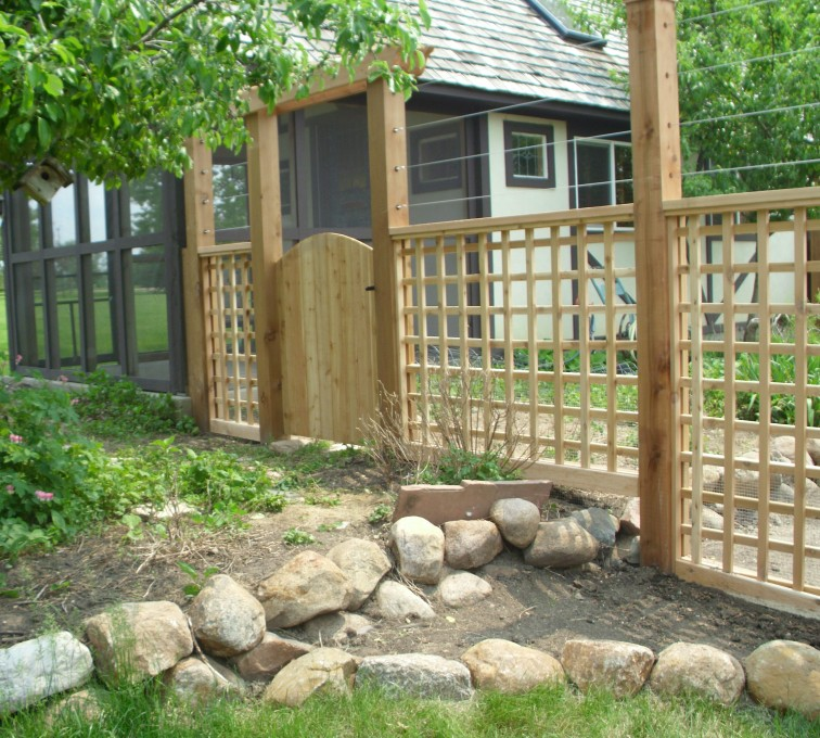 AmeriFence Corporation Kansas City - Wood Fencing, Custom Garden Fence AFC, SD