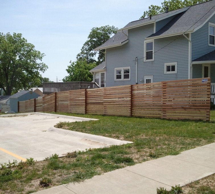 AmeriFence Corporation Kansas City - Wood Fencing, 6' Horizontal Picket - AFC - IA