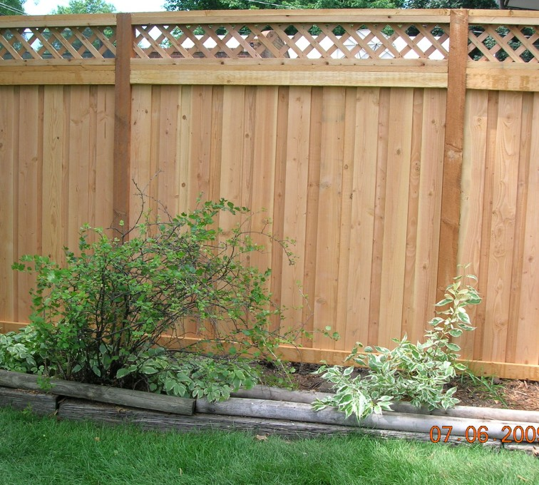 AmeriFence Corporation Kansas City - Wood Fencing, Custom with Lattice-A