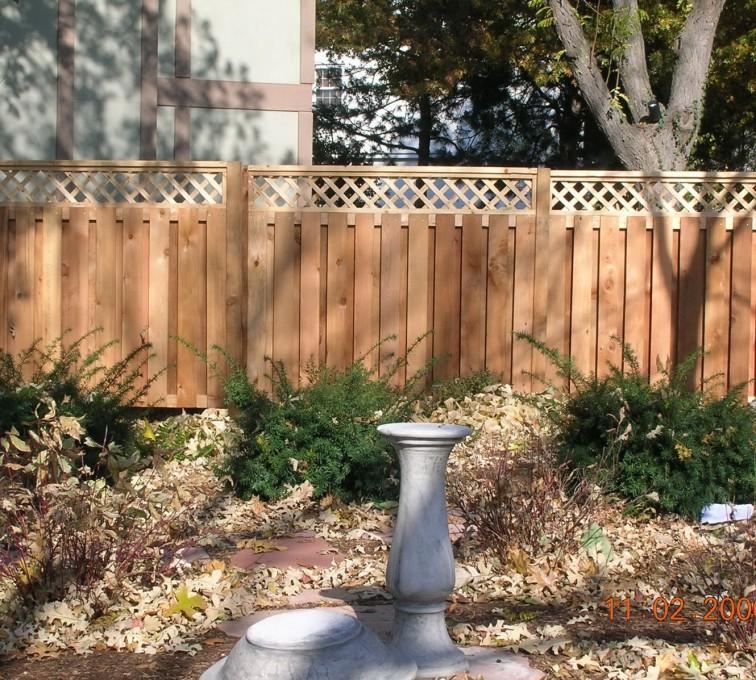 AmeriFence Corporation Kansas City - Wood Fencing, Custom with lattice