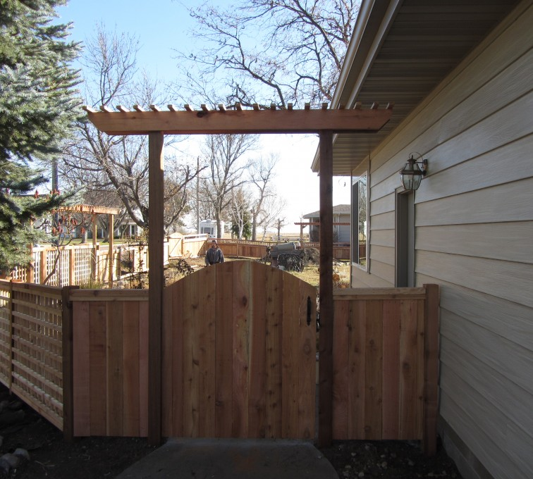 AmeriFence Corporation Kansas City - Wood Fencing, Decorative Cedar Gate AFC, SD